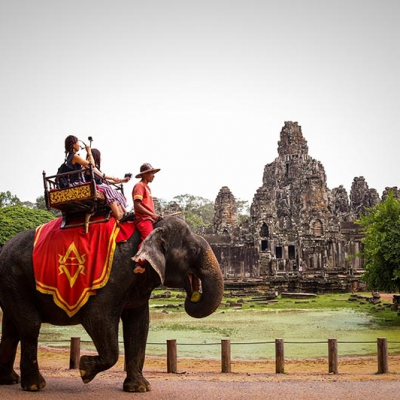 Ride Elephant at Temple